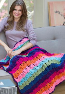 Rainbow Bright Stripe Throw