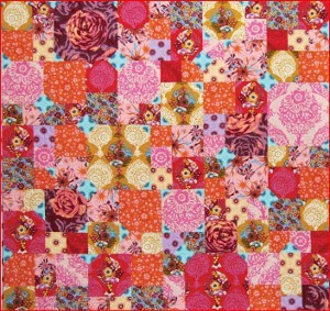 Cheery Floral Patchwork Quilt