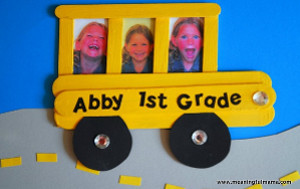 Back to School Bus Frame