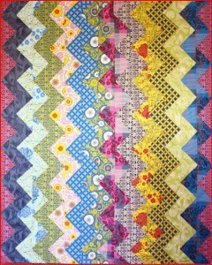 Quirky Colored Chevron Stripe Quilt | FaveQuilts.com : chevron stripe quilt pattern - Adamdwight.com
