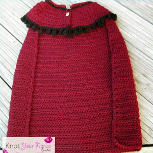 Snow Princess Crochet Cape