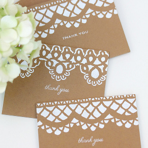 Shabby Chic Stenciled Lace Cards