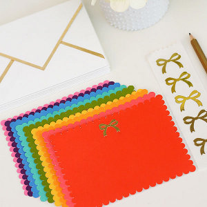 Gold Bow Stationery