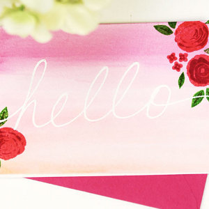 Gorgeous Masked Watercolor Cards