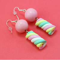 Playful Marshmallow DIY Earrings