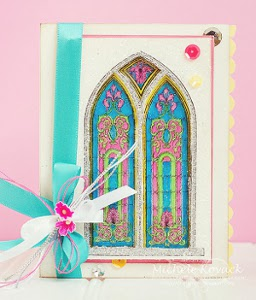 Radiant Stained Glass Window Card