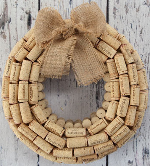 Vintage Cork Wreath