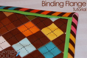 Binding a Quilt with Flange