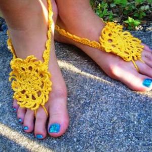 Henna Barefoot Sandals