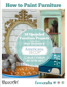 """How to Paint Furniture: 19 Upcycled Furniture Projects"" free eBook from DecoArt"