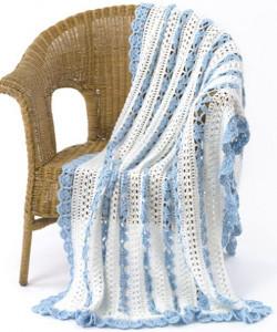 Lacy Eyelet Crochet Blanket Pattern