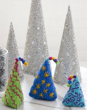 More Christmas Patterns. Whimsical Tabletop Trees