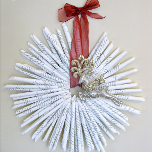 Individual Book Page Christmas Wreath