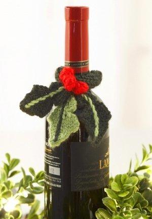 Holly Wine Topper Knitting Pattern Allfreeknitting