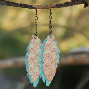 Pretty Paper Feather Earrings