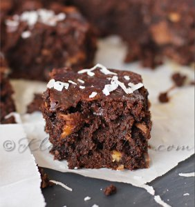 Ooey Gooey Chocolate Coconut Brownies