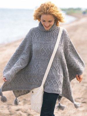 knitting patterns poncho Adult