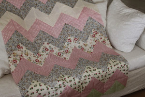 Down Home Chevron Baby Quilt