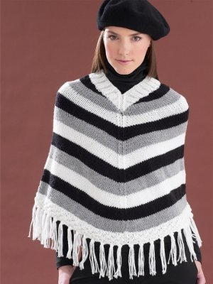 Stylish Stripes Poncho