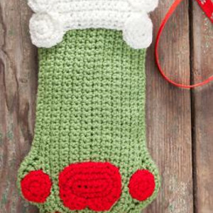 olive christmas dog stocking - Crochet Christmas Stockings