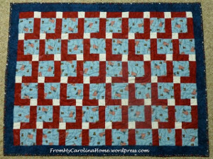Americana Disappearing Nine Patch Quilt