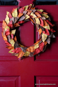 Fabulous Fall Leaves DIY Wreath