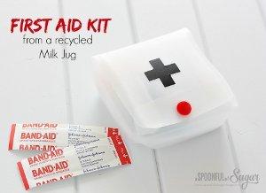 Milk Jug First Aid Kit
