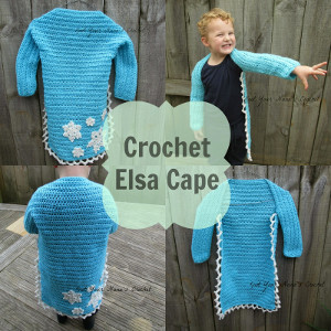 Snow Queen Crochet Cape