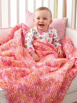 Cuddly Seed Stitch Baby Blanket Allfreeknitting Com
