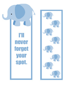 Printable Elephant Bookmarks That Never Forget