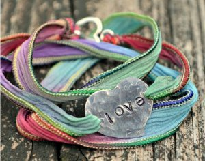 Rainbow Ribbon Wrap Bracelet