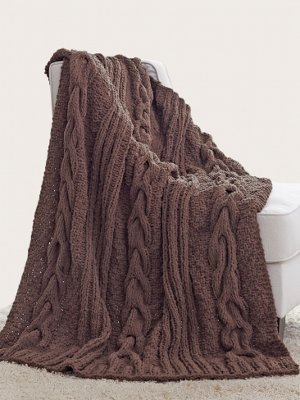 Horseshoe Cable Blanket Allfreeknitting Com