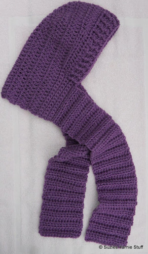 Blustery Day Hooded Scarf For Kids Allfreecrochet