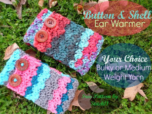 Button and Shell Ear Warmer