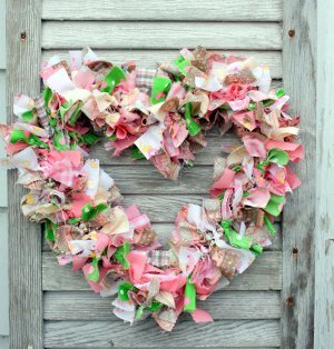 Classic Country Scrap Wreath