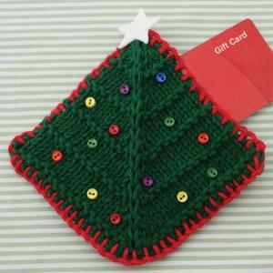 Christmas Tree Gift Card Cozy Allfreeknitting Com