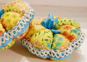 Vintage Trimmed Pin Cushions