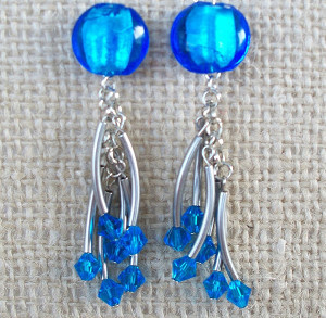 Stunning Sapphire Dangle Earrings