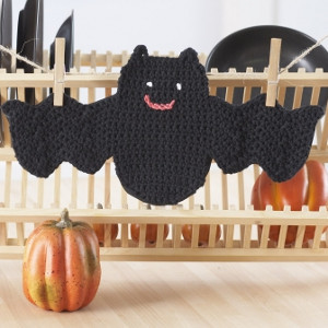Friendly Bat Dishcloth