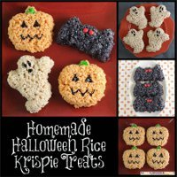 homemade halloween rice krispies treats