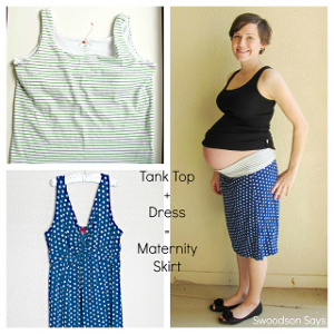 Maternity DIY Maxi Skirt