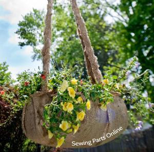 Rustic Burlap Diy Hanging Planter Allfreesewing Com