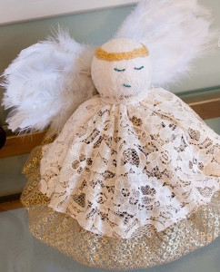 Lace Christmas Angel Craft