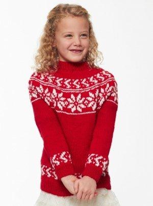 Child's Yuletide Sweater   AllFreeKnitting.com