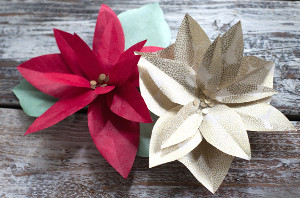 Beautiful Poinsettia Paper Flowers