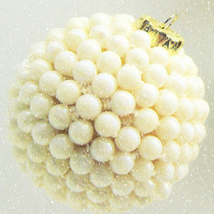 Something Old Pearl Winter Wedding Ornaments