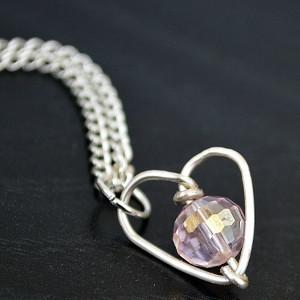 Wonderful Wire Heart Necklace | AllFreeJewelryMaking.com