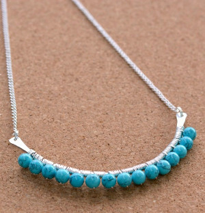 Turquoise Beaded DIY Necklace