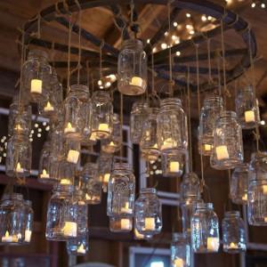 Mason jar candle chandeliers allfreediyweddings mason jar candle chandeliers aloadofball Image collections