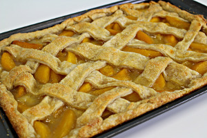 Better Than Anything Peach Slab Pie